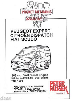 Peugeot Expert Citroen Dispatch Fiat Scudo Pocket Mechanic Manual 1995 on *NEW