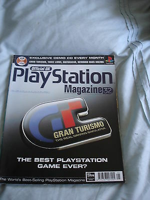 Official UK Playstation magazine with disc  issue # 32 - Gran Turismo