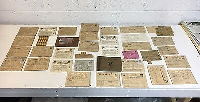 WWII Gasoline War ration books mixed lot stamps Tokens PA Feeding Hills MASS