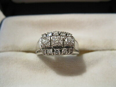 Damenring Ring Weißgold 585 Brillanten Brillantring ca. 0,60 ct, Diamantring