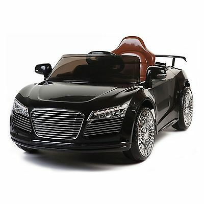 Children Kids Audi Style 12v Battery Electric 2 Speed Ride on Car Black + Remote