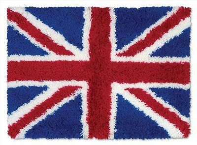 Union Jack Latch Hook Rug Kit - Brand New - Everything Included - 52x38cm