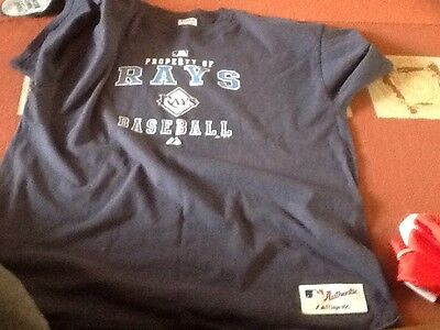 Authentic Majestic Ray's Baseball Tee Shirt Size 2XL