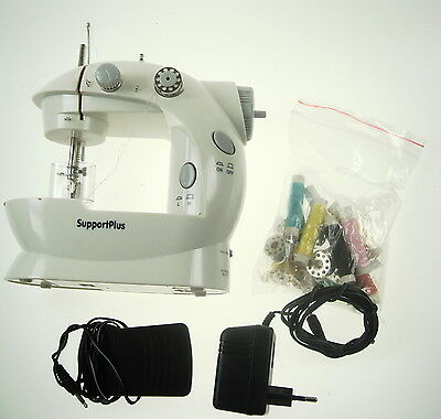Mini Portable Support Plus Sewing Machine With Extras Untested Boxed  Nr 6915