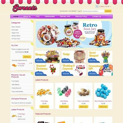 Sweeets.co.uk - Website Internet Business For Sale Sweet Shop Candy Chocolate
