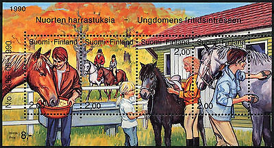 Finland 1990 SG#MS1237 Horse Riding MNH M/S #D40337