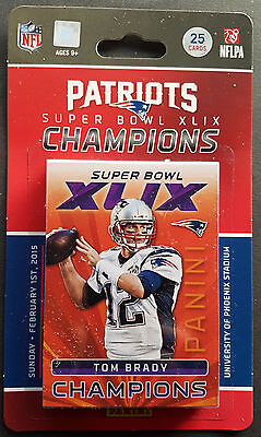 Panini Patriots Super Bowl XLIX Champions Set 2015 OVP Sealed