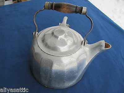 Antique 1902 Rare Size #6 Wagner Tea Kettle Aluminum Wagner Ware