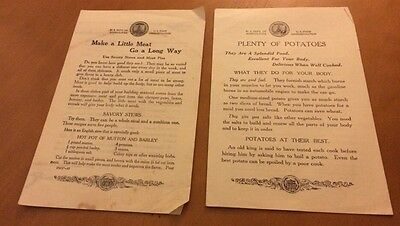 4 Leaflets From US Dept Of Agriculture From Early 1900's
