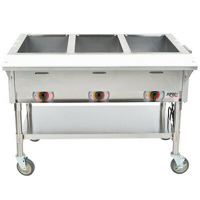 APW Wyott PST-3 Electric Portable Champion Hot Well Steam Table