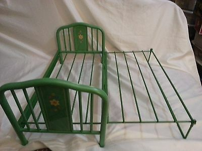 American Girl Kits Green Metal Foldout Trundle Bed With Box Retired