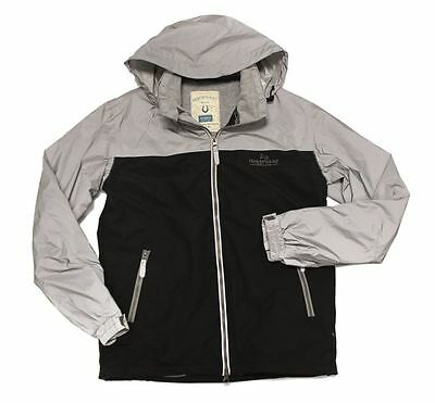 Horseware Children REFLECTIVE CORRIB Waterproof Hi-Viz JACKET Grey 3yrs to 12yrs