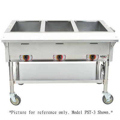 APW Wyott PST-3S Electric Portable Champion Hot Well Steam Table