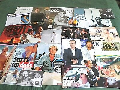 "Matthew Mcconaughey - Film Star - ""  Clippings /cuttings Pack """