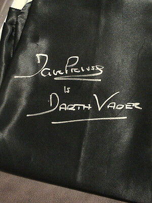 Dave Prowse Darth Vader Star Wars Signed Full Size Cape W/proof