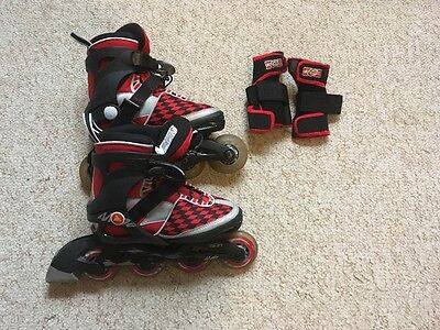 K2 Children's Inline Skates (Red) UK Size 13 - 4