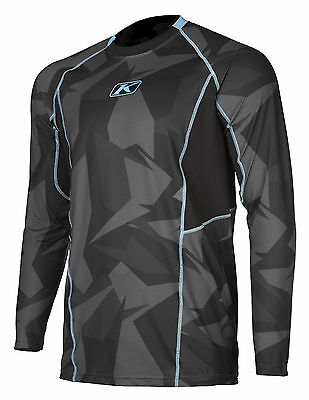 Klim Mens Black/Grey Aggressor Long Sleeve Snowmobile -1.0 Cooling Base Layer