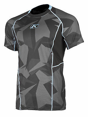 Klim Mens Black Aggressor Short Sleeve Snowmobile -1.0 Cooling Base Layer Shirt
