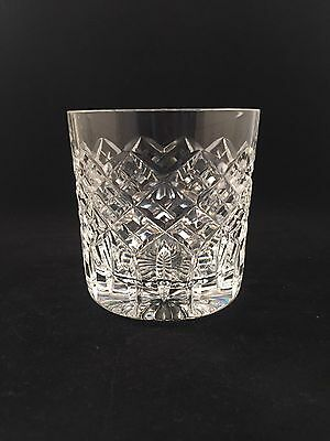 "2 Stuart Crystal BLENHEIM Cut Whiskey Glasses 8.2cms (3-1/4"") tall"