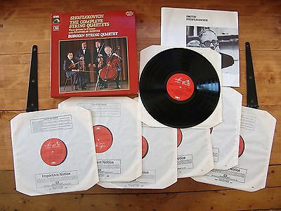 "BOX SET 7 LPs Shostakovich ""The Complete String Quartets"" Borodin String Quartet"