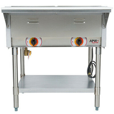APW Wyott SST-2 Electric Stationary Sealed Champion Hot Well Steam Table