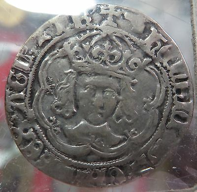 Great Britain Henry VII Groat Type F , IIIb North 1705b Scarce  Hammered Coin