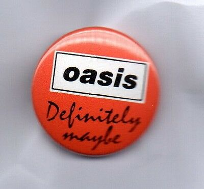 OASIS Definitely Maybe BUTTON BADGE English Rock Band - Britpop 25mm Pin
