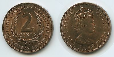 G12679 - British Carribean Territories 2 Cents 1965 KM#3 Erhaltung