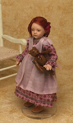 Miniature Porcelain Dollhouse Doll in 1:12 or 1/12th Scale-Child