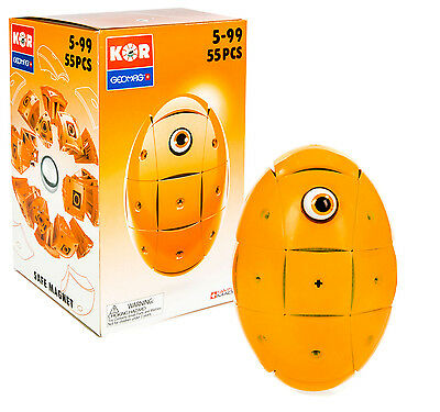 Geomag Kor Egg Covers - Orange - 26-Piece Creative Magnet Cover Addition - Swiss