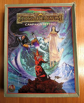 Forgotten Realms Campaign Box Set Dungeons & Dragons TSR 1085 used