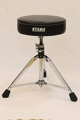 Tama Drum Throne Percussion Instrument Seat Stool Chair Round Black