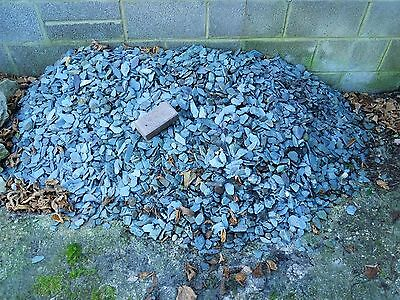 Blue/Green Slate Chippings Decorative Garden Border Path Driveway DIY