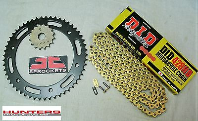 Yamaha YZF-R125 DID Gold Heavy Duty Chain & JT Sprocket Kit Set (2008 to 2015)