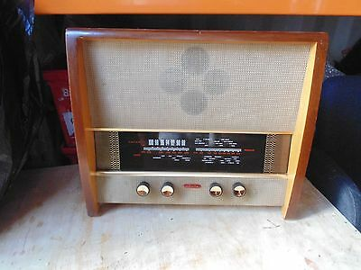 LARGE WORKING VINTAGE 1950s HEAVY WOOD CASE MURPHY A262 VALVE RADIO RECEIVER