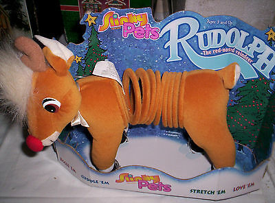Slinky Pets Rudolph the Red Nose Raindeer 1989 New Unique Gift For Slinky Lover