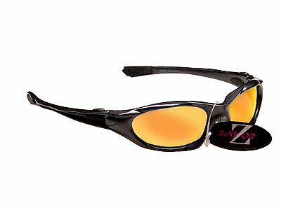 RayZor Uv400 Gunmetal Grey Cricket Sports Sunglasses Red Mirrored Lens RRP£49