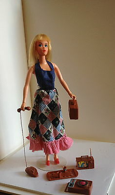Vintage Rare Barbie Busy Hands 1973 With Original Outfit & Accessories Mattel