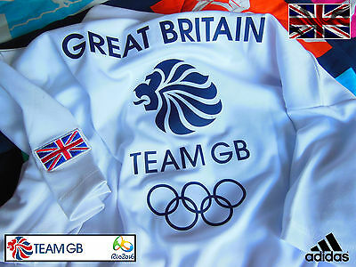 Adidas Team Gb Issue - Training For Rio Olympics - Lady Athlete Event Polo Shirt