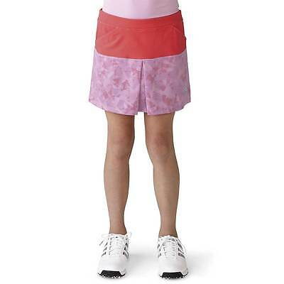 New Adidas Golf Girl's Tour Mixed Print Pull-On Skort