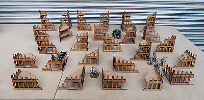 Wargames scenery 26 Ruined Buildings Warhammer 40K 28mm Bolt Action Terrain