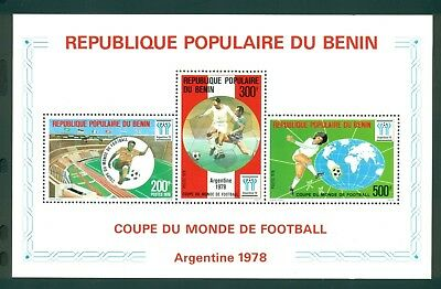 Benin Scott #399a MNH World Cup 1978 Argentina Soccer Football CV$13+