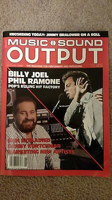 BILLY JOEL - Music Sound Output Magazine - Aug. 1985