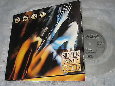 "ASAP [Iron Maiden] Silver and Gold (EMI Records Gatefold 7"" Clear Vinyl-1989)"