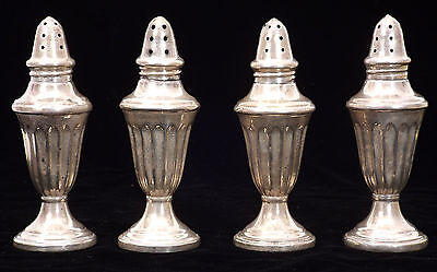 Set of Four Georgian Style Salt and Pepper Shakers