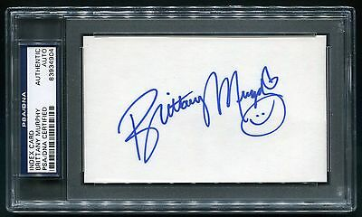 Brittany Murphy Signed 3X5 Index Card Actress Clueless 8 Mile Sin City Psa/dna