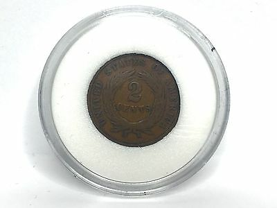 1864 United States Of America 2 Cent Coin Encased and Boxed COA GVM6483