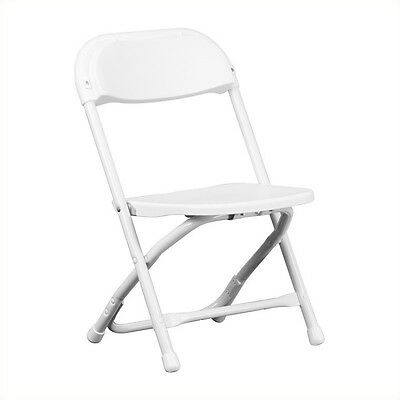 Flash Furniture Kids Plastic Folding Chair Acrylic Chairs in White