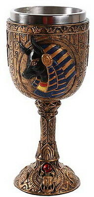 ANUBIS CHALICE Wicca Pagan Witch Goth Ritual Spell Altar EGYPTIAN