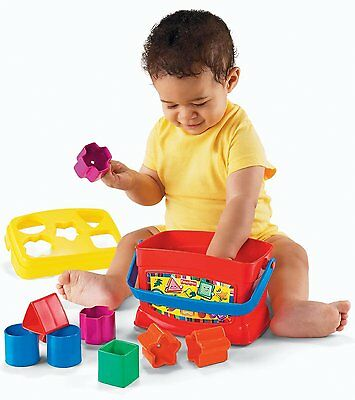 Fisher Price Baby Blocks Sorter Toy Toddler Infant Child Play Learn Shapes Tub
